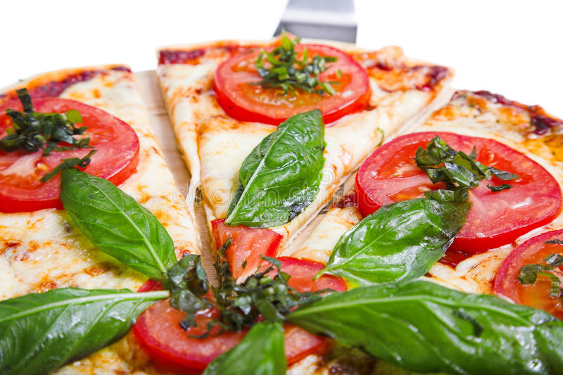 Pizza Margarita stockfoto