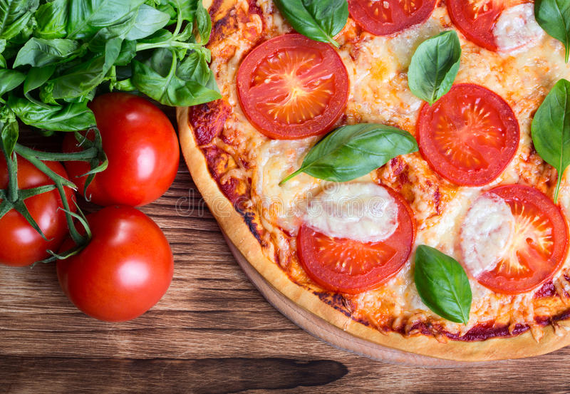Pizza Margarita imagens de stock