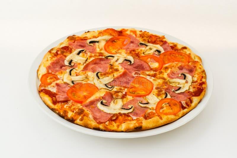 Pizza margarita isolated on white royalty free stock image