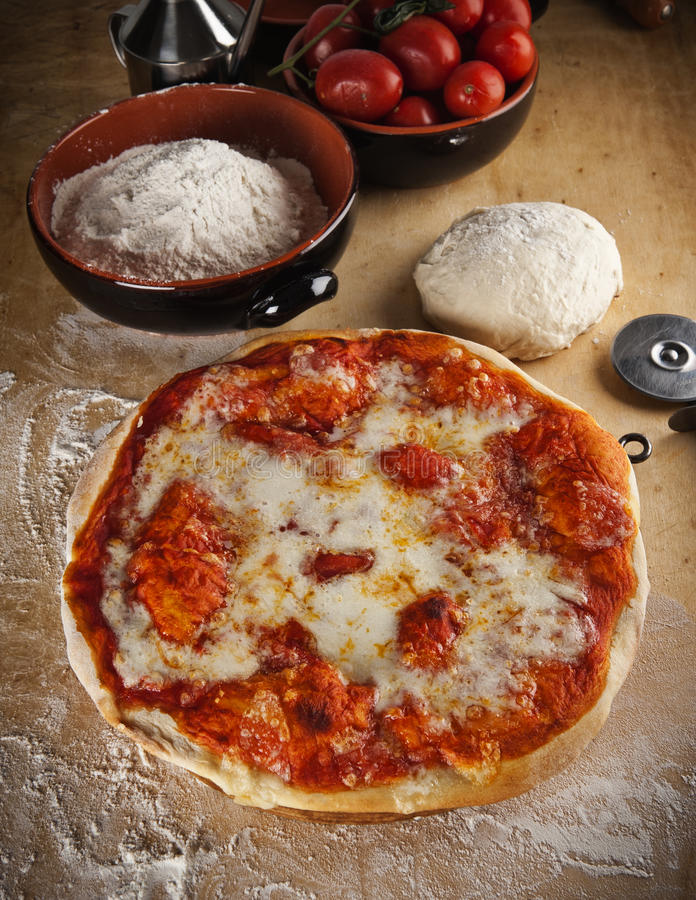 Download Pizza Margherita stock photo. Image of dough, pizza, dish - 22516536