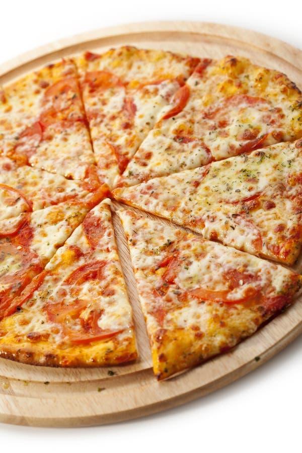 Pizza Margherita royalty-vrije stock foto's