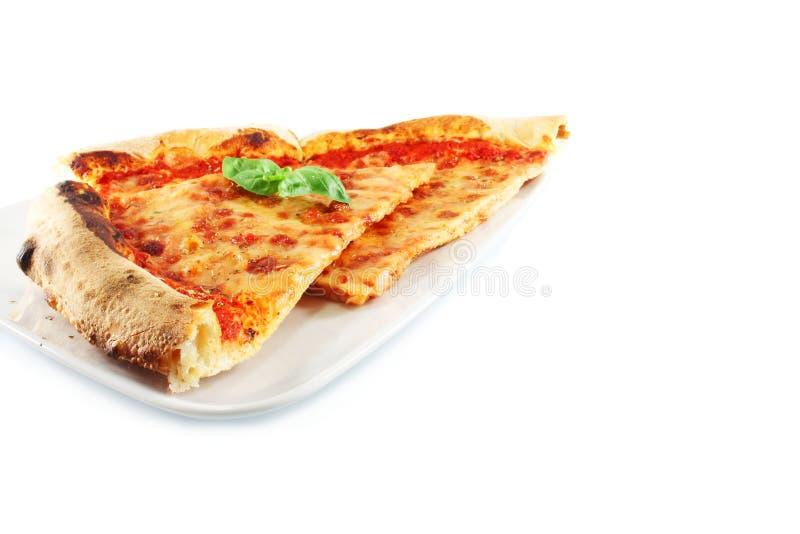Pizza Margherita stock afbeelding
