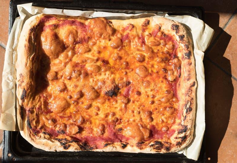 Pizza Margherita homemade stock photography