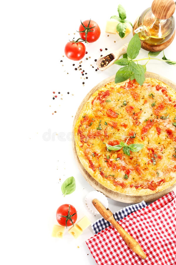 Download Pizza Margherita With Ingredients Stock Image - Image: 34466701