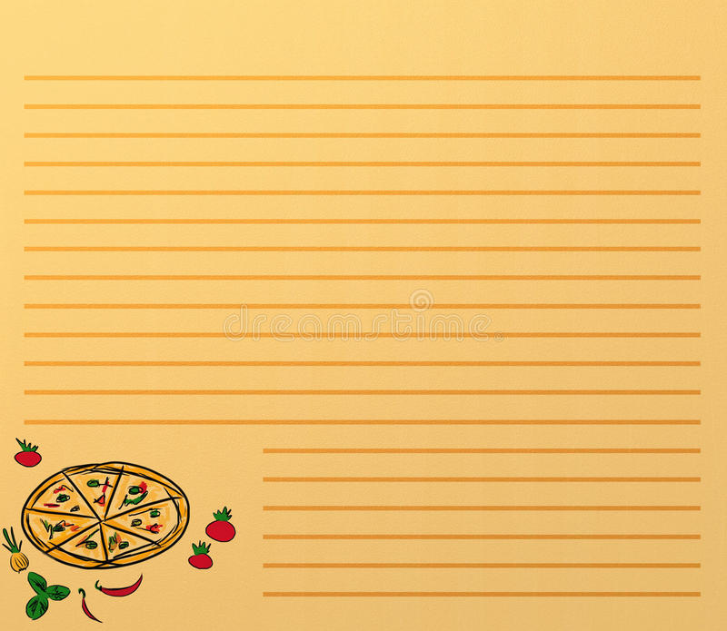 Download Pizza menu stock illustration. Image of chilly, fast - 18639708