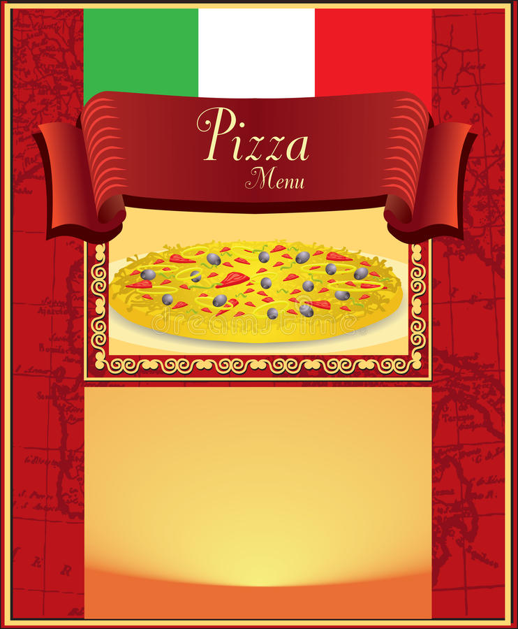 Pizza Menu Royalty Free Stock Image