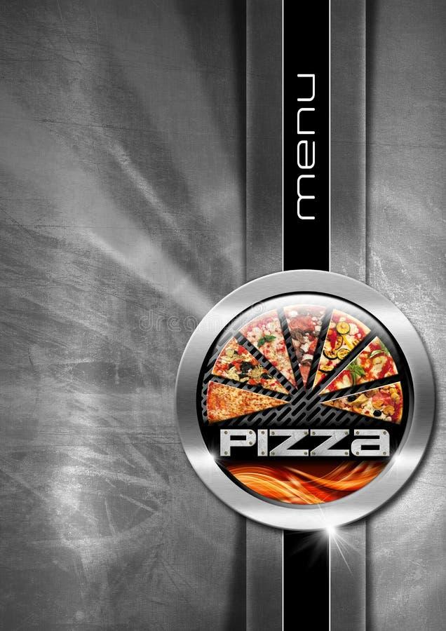 Pizza menu projekt ilustracji