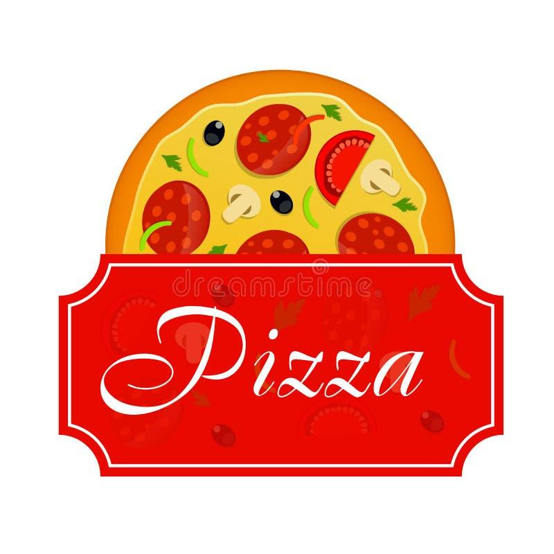 Pizza menu szablonu wektoru ilustracja royalty ilustracja