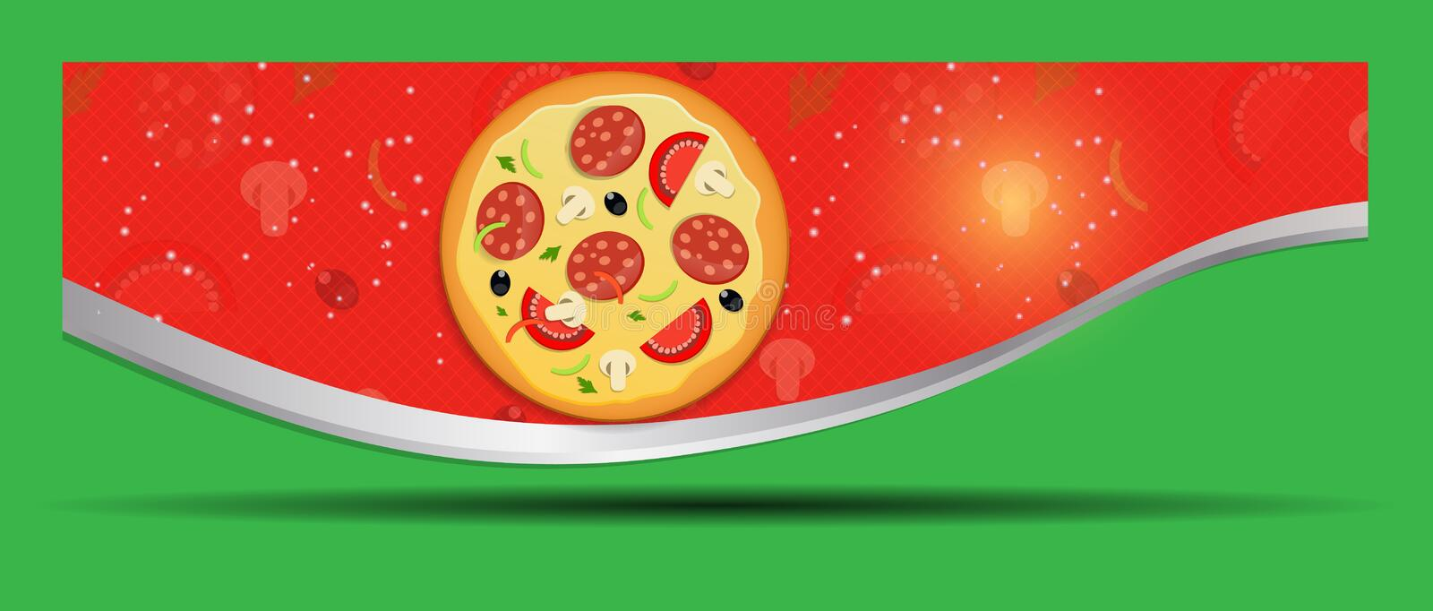 Pizza Menu Template Vector Illustration Stock Images