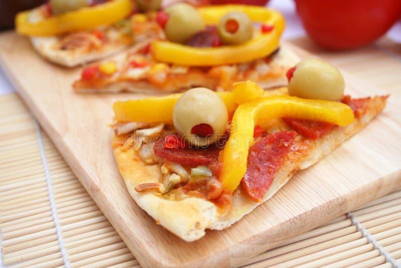 Pizza messicana fresca immagini stock