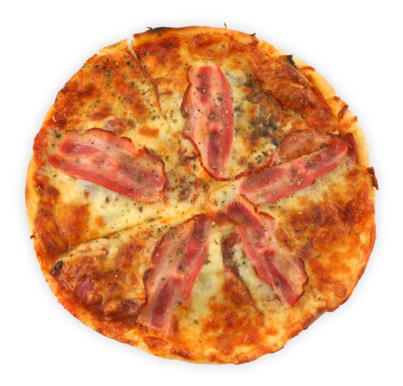 Pizza met bacon stock fotografie