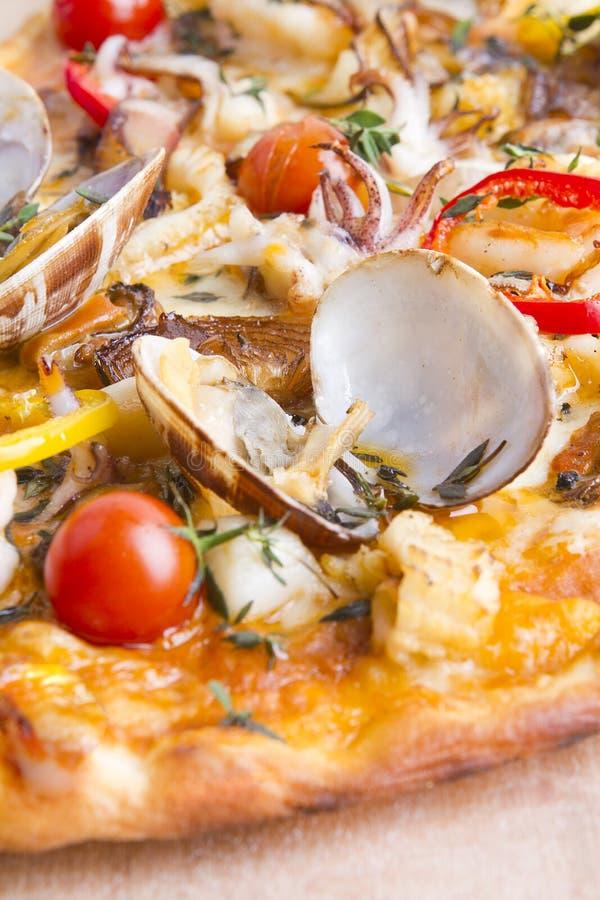 Pizza mince de croûte images libres de droits