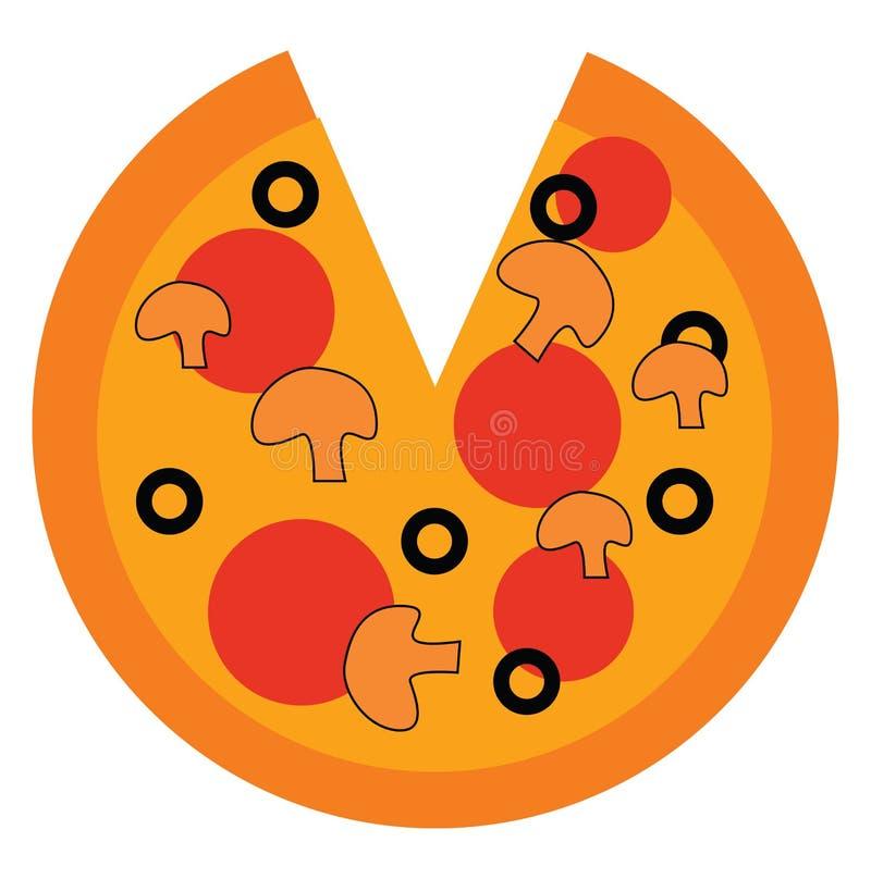 Pizza missing a slice vector illustration vector illustration