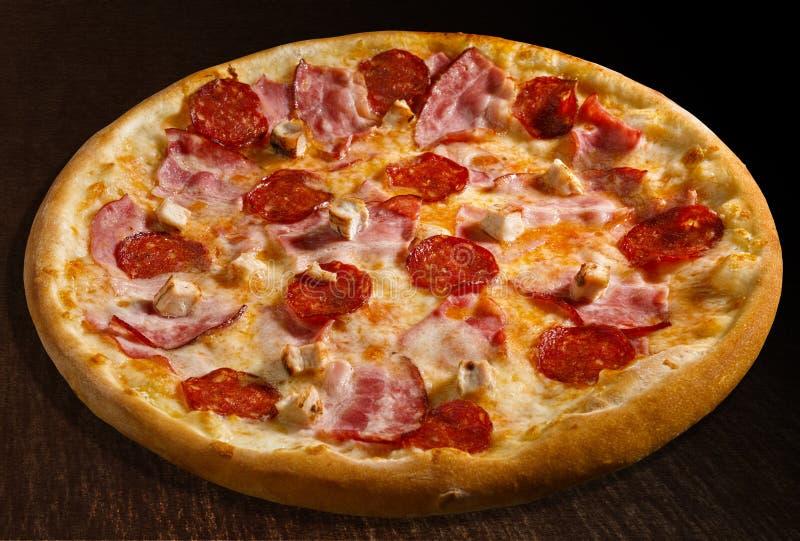 Pizza misto carne stock photography