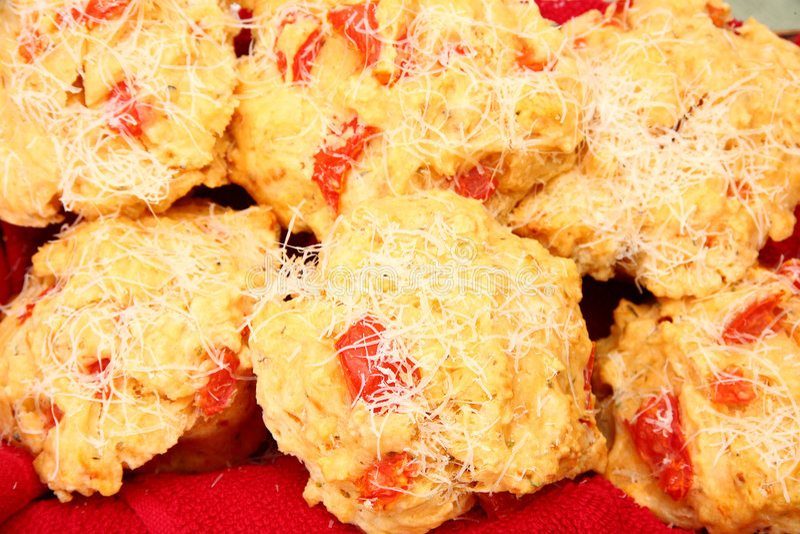 Pizza-Muffins lizenzfreies stockbild