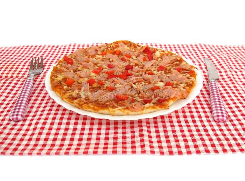 Pizza na stole fotografia royalty free