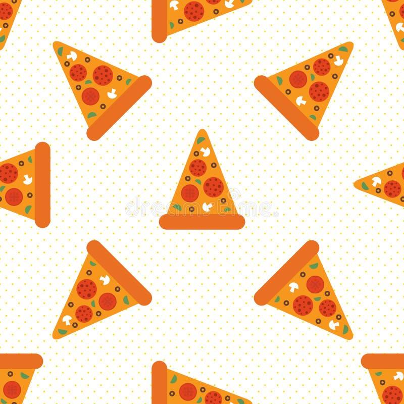 Pizza nahtlos vektor abbildung
