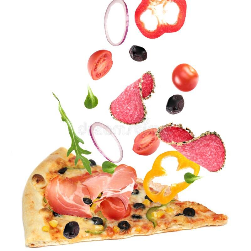 pizza odcinający plasterek zdjęcia stock