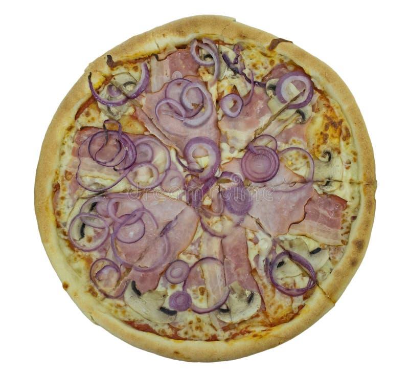 pizza odizolowana obraz royalty free