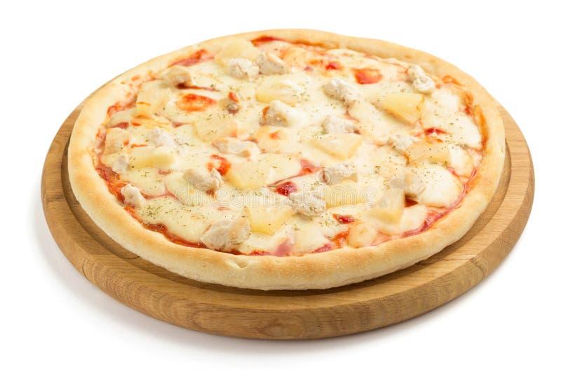 pizza odosobniony biel obraz stock