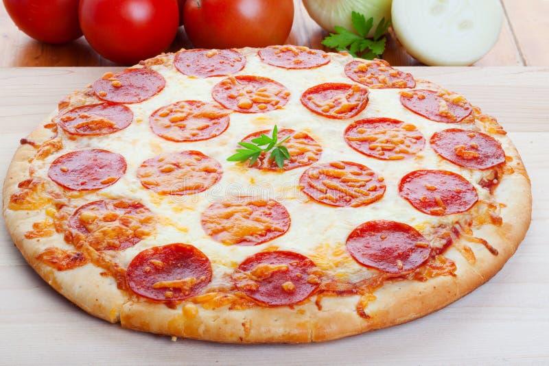 Pizza op hout