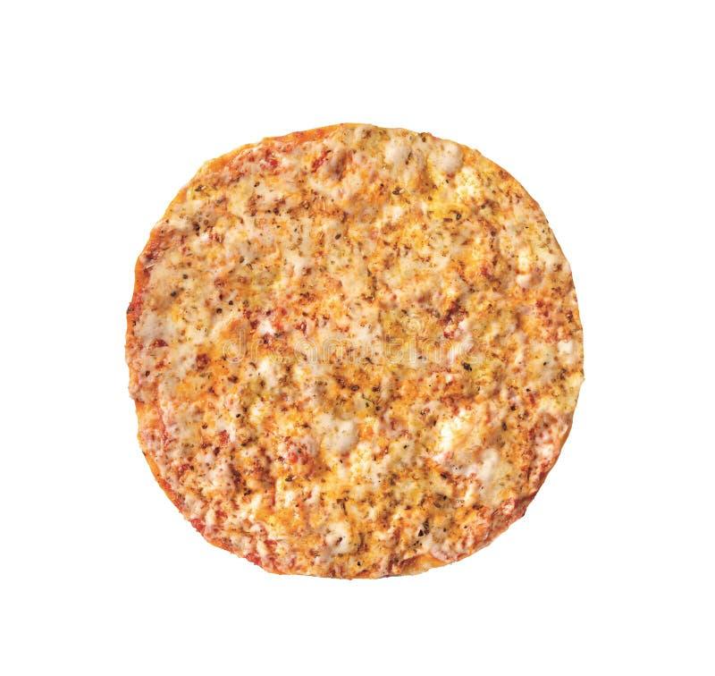 Pizza original clássica italiana fresca isolada foto de stock royalty free