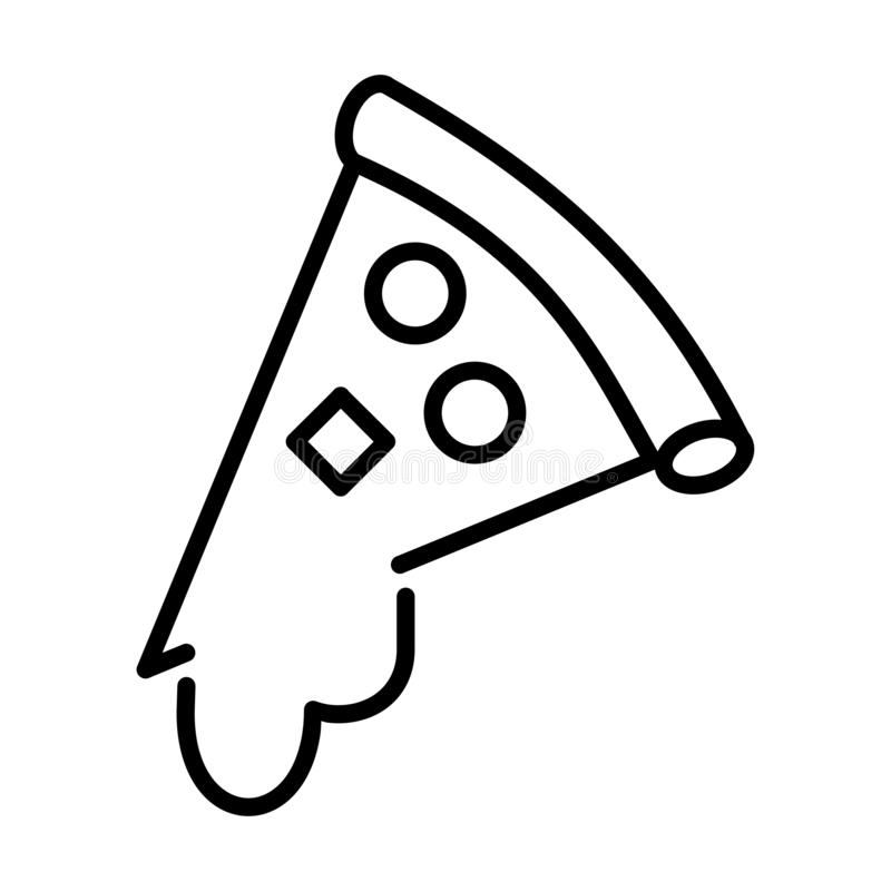Pizza Outline - msidiqf royalty free illustration
