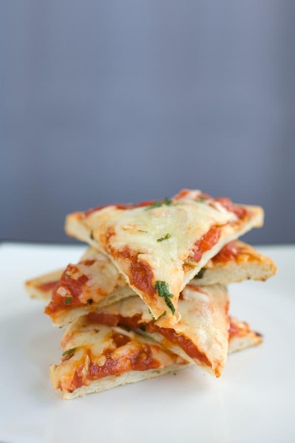 pizza płytkę plasterki stack fotografia royalty free