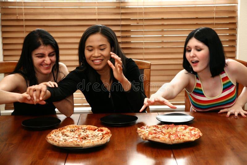 pizza partii zdjęcie stock