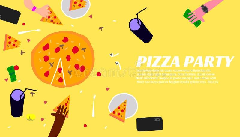 Pizza Partyjny plakat ilustracji