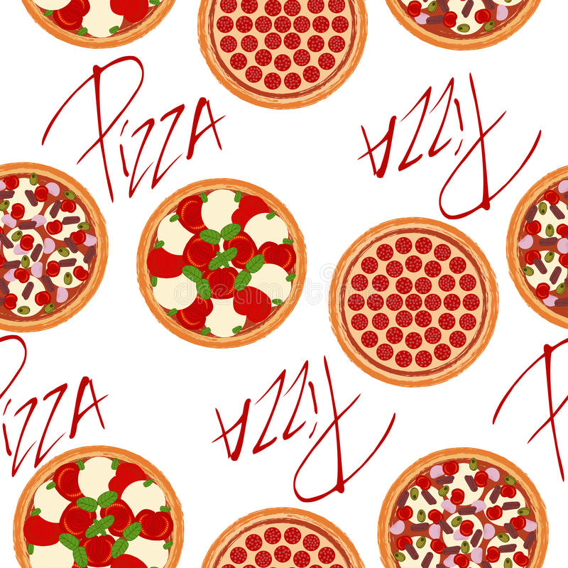 0626 pizza patterns-02 royalty free illustration