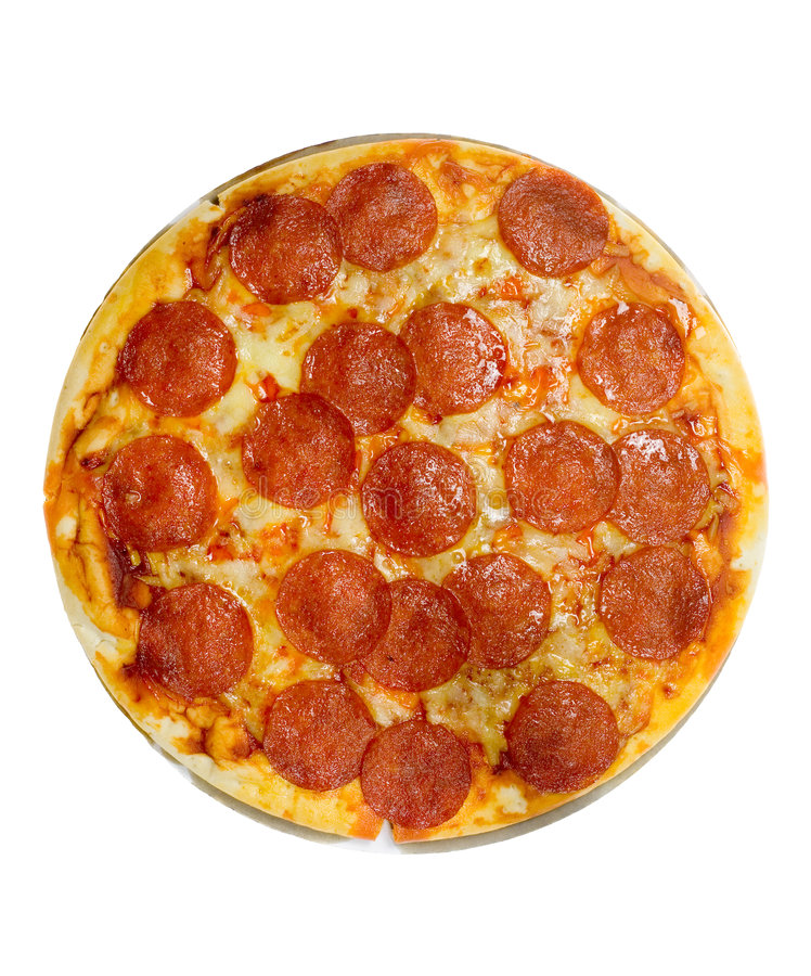 pizza pepperoni z serem obrazy royalty free