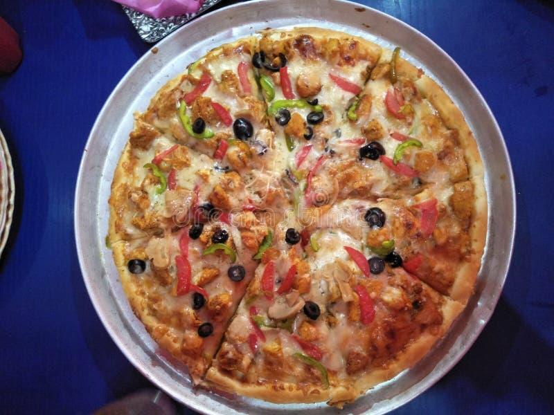 Pizza picante foto de stock