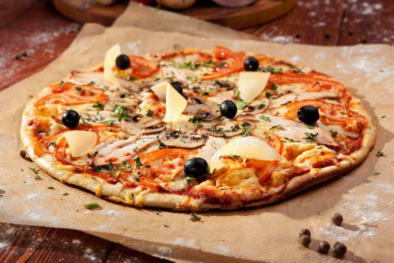 Pizza piccante fotografia stock libera da diritti