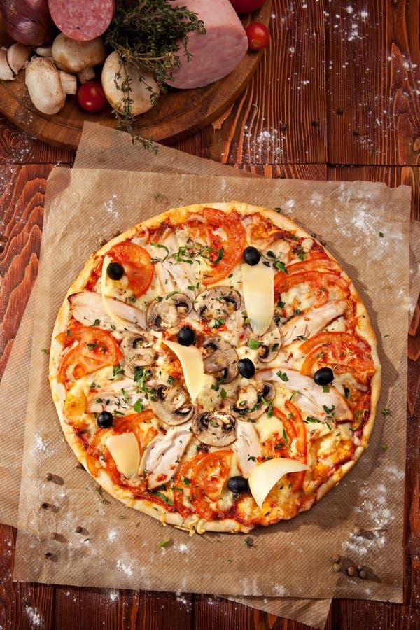 Pizza piccante immagini stock libere da diritti