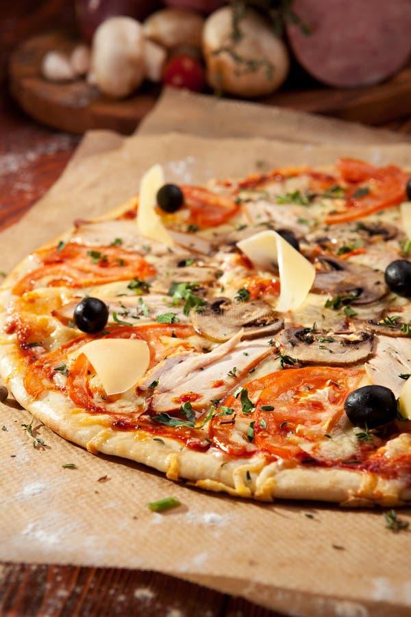 Pizza piccante immagini stock
