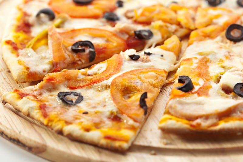 Pizza piccante fotografie stock libere da diritti