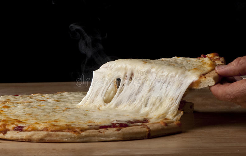 Download Pizza Pie Pull stock image. Image of thick, crust, tasty - 11715121