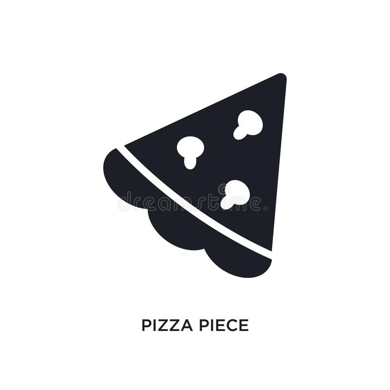 pizza piece isolated icon. simple element illustration from ultimate glyphicons concept icons. pizza piece editable logo sign royalty free illustration