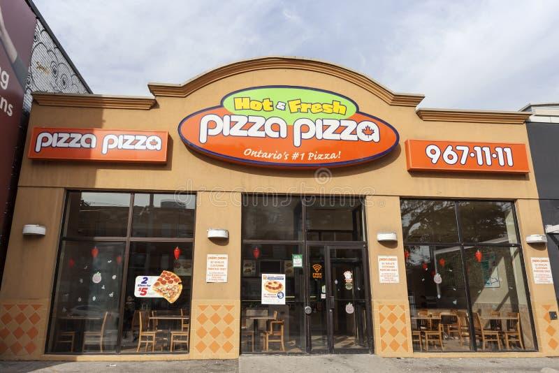 Pizza-Pizzarestaurant in Toronto, Kanada stockfoto