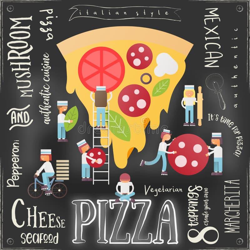 Pizza Pizzeria Menu royalty free illustration