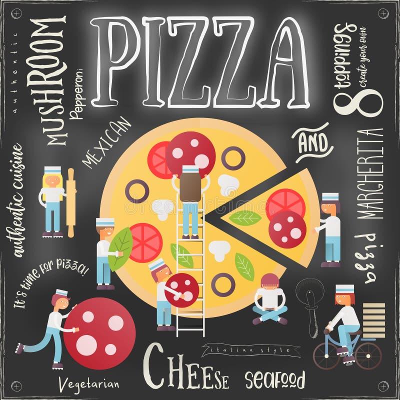 Pizza Pizzeria Menu vector illustration