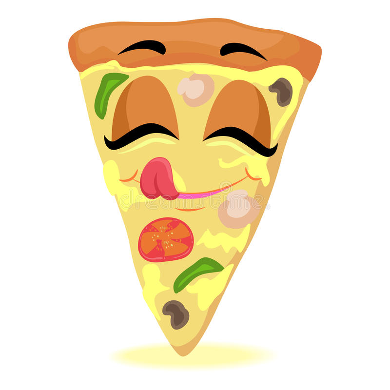 Pizza plasterka maskotka ilustracja wektor