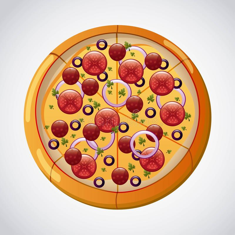 Pizza projekt ilustracji
