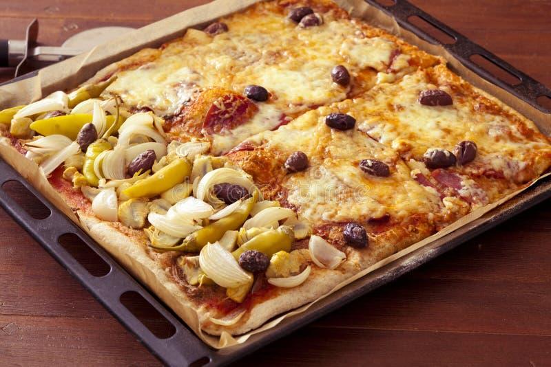 pizza różni rodzaje zdjęcie stock