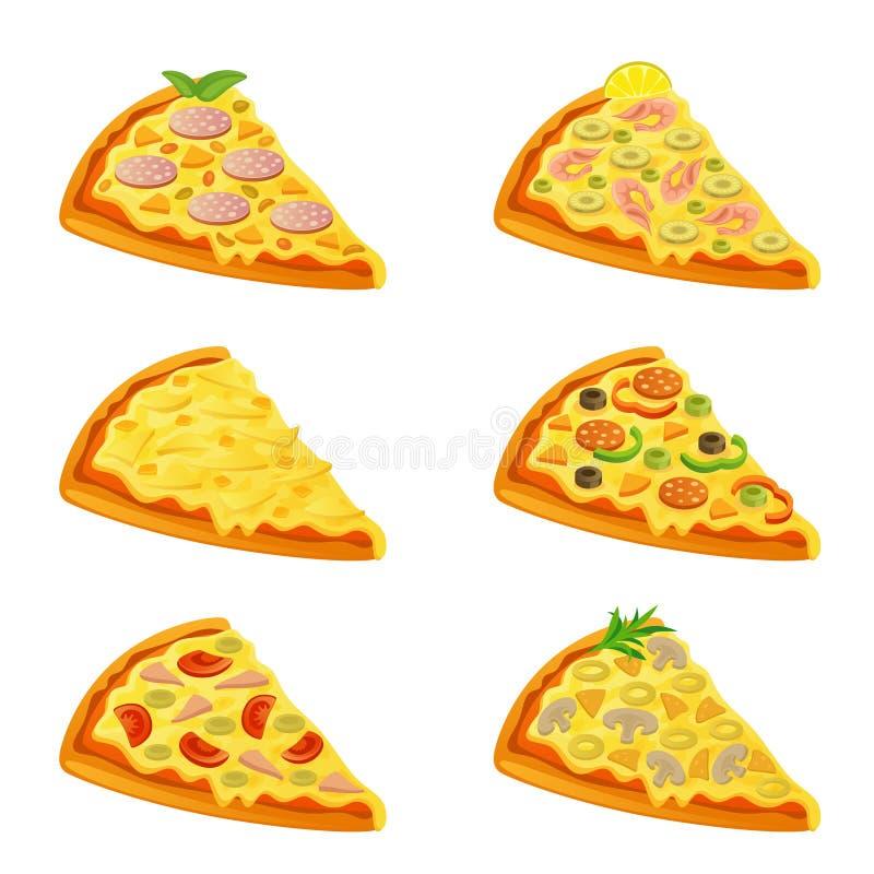 pizza różnorodna ilustracji