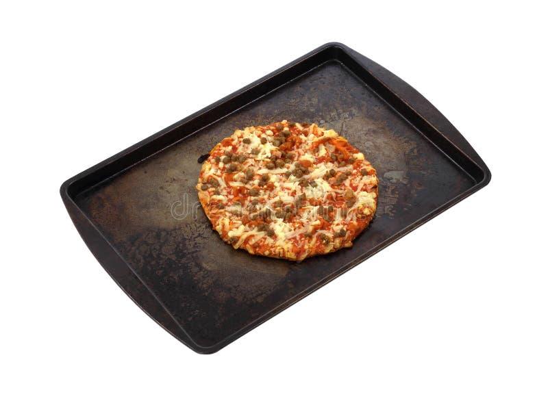 Pizza Ready To Bake Royalty Free Stock Photos