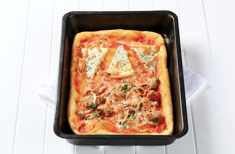 Pizza rectangulaire photos stock