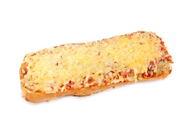Pizza rectangular aislada en blanco imagen de archivo libre de regalías