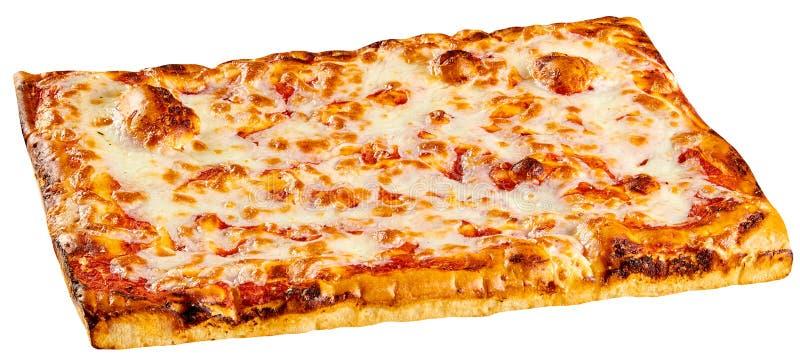 Pizza rectangular clásica de Margherita de la panadería imagen de archivo